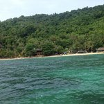 Perfect beach (view from our taxi boat) on arrival