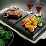Surf & Turf on a 440 degree Volcanic Stone