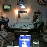 customers enjoying the pool game