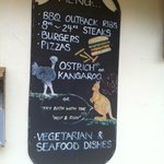Ostrich advertised but not on the menu