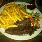 Kangaroo Steak and Chips