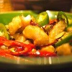 Crispy fried shrimp.