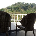 It was bliss to sit on these chairs in the living room balcony and sip our tea or read our books