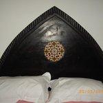 beautiful bedhead in the douriya suite