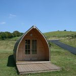 Try our camping pods