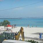 junkanoo beach in from our balcony