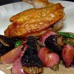 Shroom'n Chicken w/ Fresh Grilled Asparagus & Morel Mushrooms