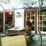 Patio dining at Papa's Soul Food Kitchen and Blues Joint