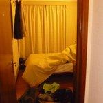 La photo de notre chambre, prise du hall