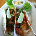 haddock and shrimp tacos