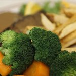 Fresh steamed veggies