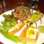 The Spring menu vegetarian platter
