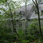 Side View of the Chapel. through the Woods