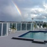 Rooftop pool view of the 'Pot of Gold' Coast at the end of the rainbow