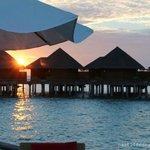 Baros Water Villa sunset