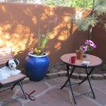 The patio for Casita 22