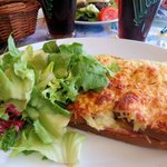 Croque Monsieur with salad - €12,5
