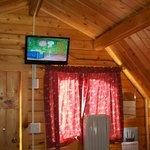 Flat screen TV in cabin