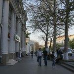On Sevastopol main boulevard, very near the hotel.