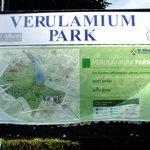 Verulamium Park map next to car park in St Michael's village