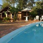 piscina proxima das cabanas