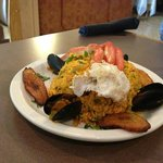 Seafood and Rice - it was delicious and huge - $12.99
