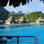 View from our overwater bungelow