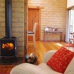 Warm wood fire