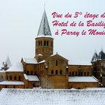 vue du 3°étage de l'Hotel de la Basilique à Paray le Monial