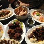 Hummus platter and falafel