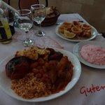 assiette grecque, tarama et calamar
