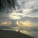 Beach front, a postcard