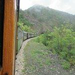 The Sargan Eight train cruising along