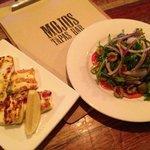 haloumi and Spanish Salad