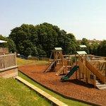 Kids play area and patio bar sun terrace