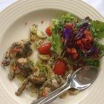 Frog leg salad