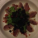 Smoked duck and beetroot salad