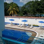 El área de la piscina