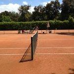 i campi da tennis all interno del parco