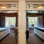 Doorways reflect historical architecture and individually named rooms