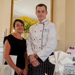 Chef Sam and Head waitress Danielle