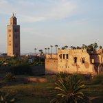 Blick vom Dach des Riad
