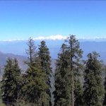 View of The Himalayas from Ma Surkanda Devi Temple