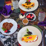 Brunch Menu: Fresh Fruit Salad, Mozart Omelet, Schubert Omelet