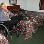 Travelodge's standard pillowtop bed too high for wheelchair use