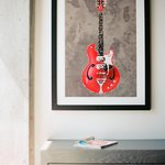 "Room with ""guitar"" art"