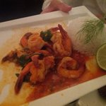 Garlic shrimp appetizer at Palazzo in Port Moresby