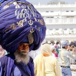 A Nihang, a famous and prestigious armed Sikh order.
