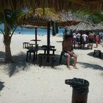 Sector para comer en la playa