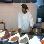 Chef Elijah Bow demonstrates Bahmian Specialities
